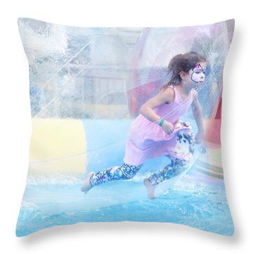 Throw Pillow featuring the photograph Summer Fun by Theresa Tahara
