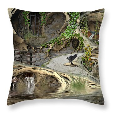 Summer Getaway Throw Pillow by Hal Tenny