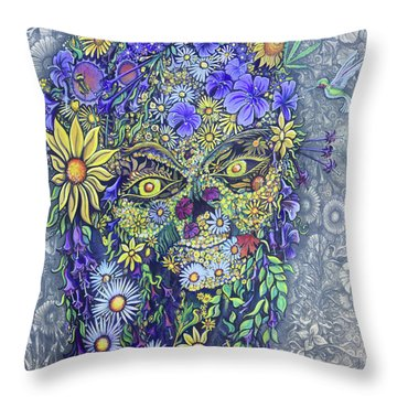 Summer Girl Throw Pillow