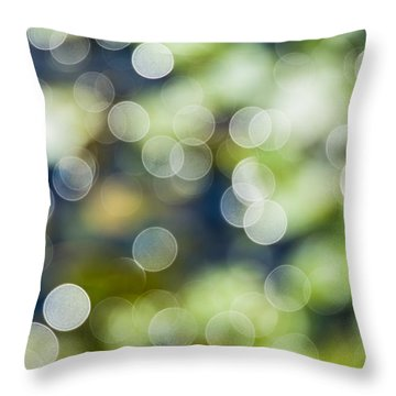 Summer Glitter Throw Pillow