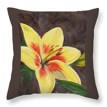 Summer Glow Throw Pillow
