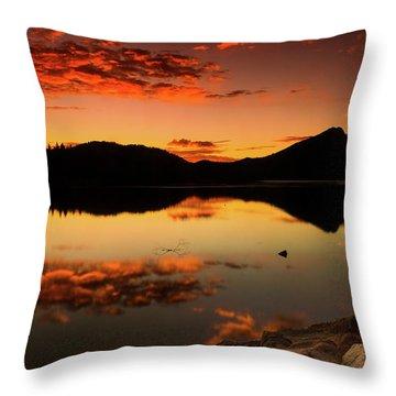 Summer Glow Throw Pillow by John De Bord