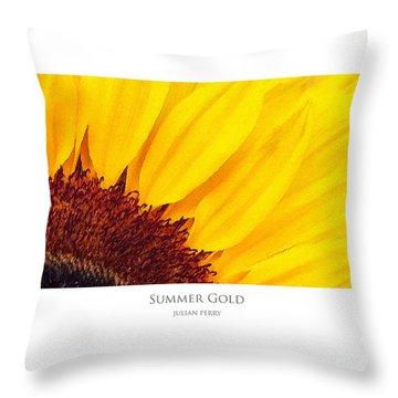 Summer Gold Throw Pillow