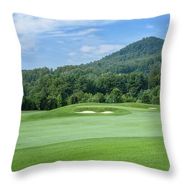Summer Green Throw Pillow
