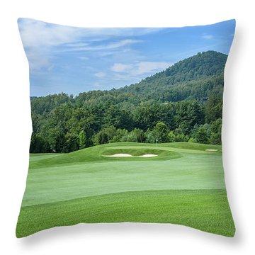 Summer Green Throw Pillow