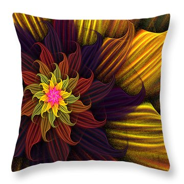 Summer Harvest Flower Throw Pillow