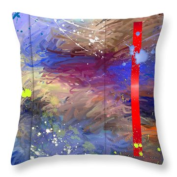Summer Harvest Throw Pillow by Snake Jagger