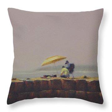 Summer Haze Throw Pillow by Barbara Groff