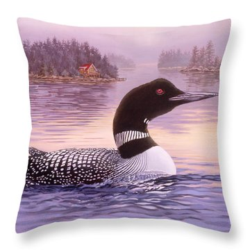 Summer Haze Throw Pillow
