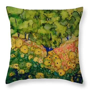 Summer Hills Throw Pillow