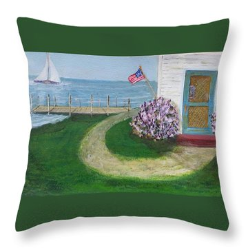 Summer Home In Maine Throw Pillow