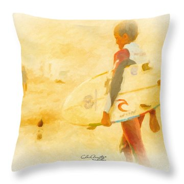 Throw Pillow featuring the painting Summer II by Chris Armytage