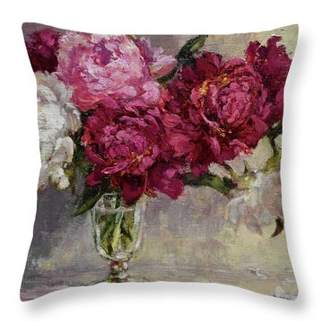 Summer In A Drinking Glass Throw Pillow