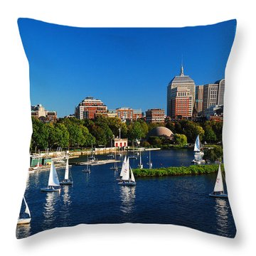 Summer In Boston Throw Pillow