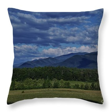 Throw Pillow featuring the photograph Summer In Cades Cove by Douglas Stucky