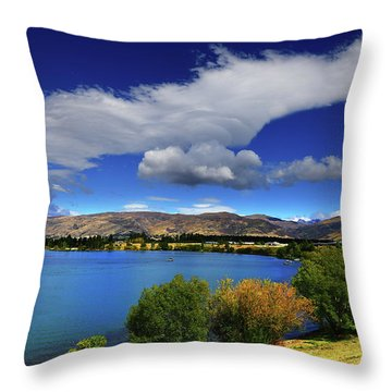 Summer In Central Throw Pillow
