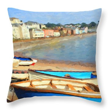 Summer In Dawlish Throw Pillow