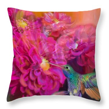 Summer In Full Bloom  Throw Pillow