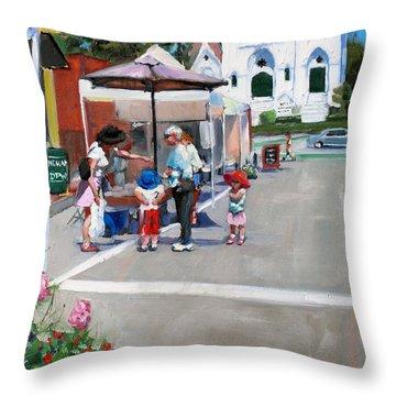 Summer In Hingham Throw Pillow by Laura Lee Zanghetti