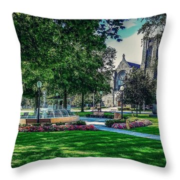 Throw Pillow featuring the photograph Summer In Juckett Park by Kendall McKernon
