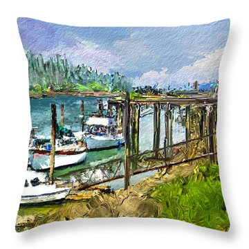 Summer In La'conner Throw Pillow