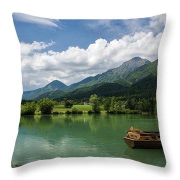 Summer In Preddvor Throw Pillow by Ian Middleton