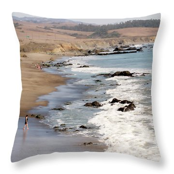 Throw Pillow featuring the photograph Summer In San Simeon by Art Block Collections
