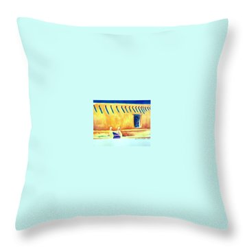Summer In Taos Throw Pillow