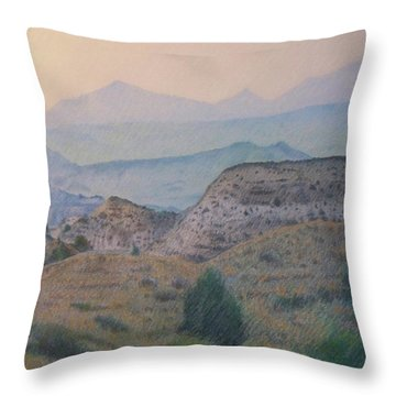 Summer In The Badlands Throw Pillow