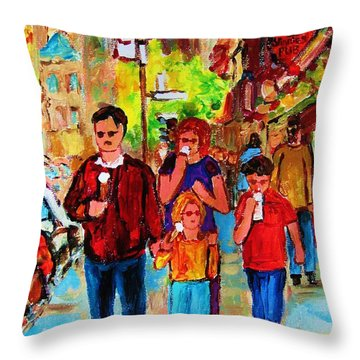 Summer In The City Throw Pillow by Carole Spandau