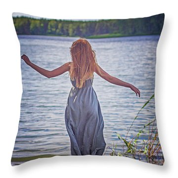 Summer In The Light And Winter In The Shade Throw Pillow