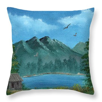 Summer In The Mountains Throw Pillow