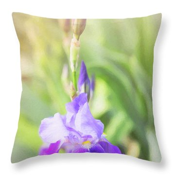Throw Pillow featuring the photograph Summer Iris by Sue Collura