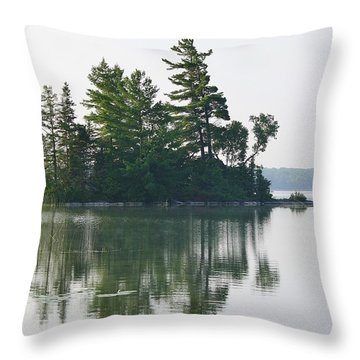 Throw Pillow featuring the photograph Summer Island by Al Fritz
