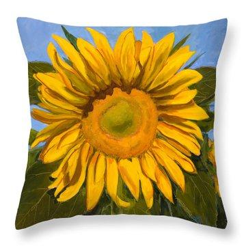 Summer Joy Throw Pillow by Billie Colson