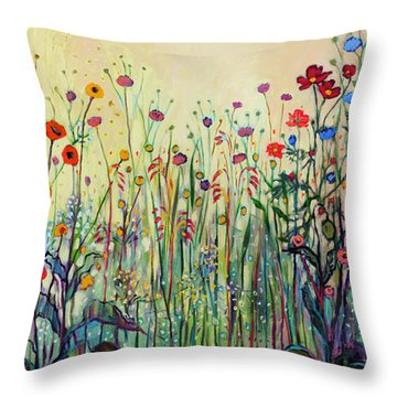 Summer Joy Throw Pillow