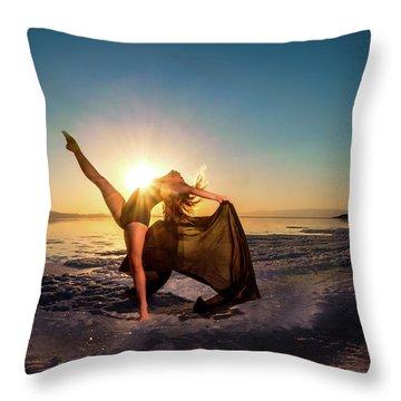 Summer Kicks Throw Pillow