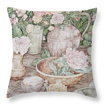 Summer Throw Pillow by Kim Tran