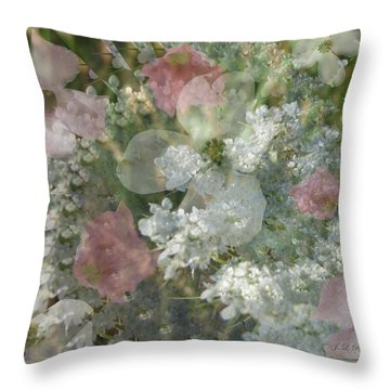 Summer Lace Throw Pillow