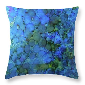 Throw Pillow featuring the painting Summer Lake Ink #5 by Sarajane Helm