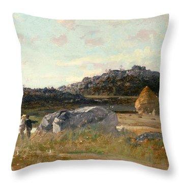 Summer Landscape Throw Pillow by Luigi Loir