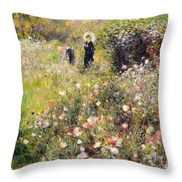Summer Landscape Throw Pillow by Pierre Auguste Renoir