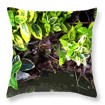 Summer Leaves Throw Pillow