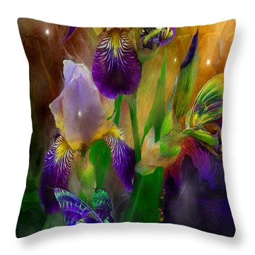 Summer Life Throw Pillow by Carol Cavalaris