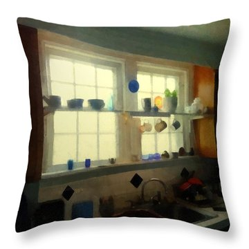 Summer Light In The Kitchen Throw Pillow by RC deWinter
