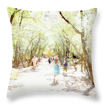 Throw Pillow featuring the photograph Summer Light Provence by Rasma Bertz