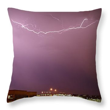 Summer Lightning Throw Pillow