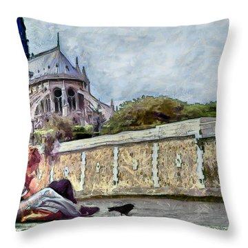 Throw Pillow featuring the digital art Summer Love by Pennie McCracken
