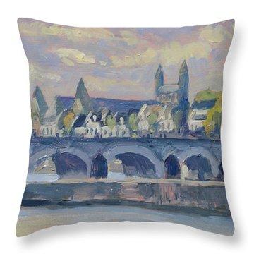 Summer Maas Bridge Maastricht Throw Pillow