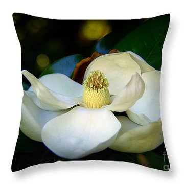 Summer Magnolia Throw Pillow